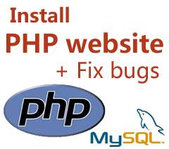 PHP script installation service install website and fix bugs